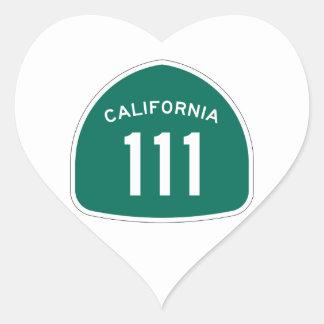 カリフォルニア州のルート111 ハートシール