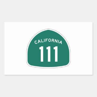 カリフォルニア州のルート111 長方形シール