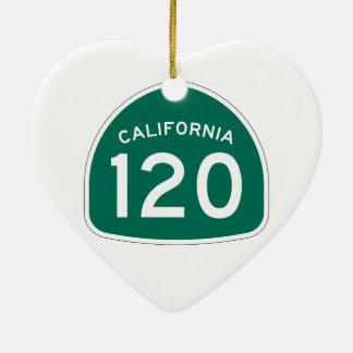 カリフォルニア州のルート120 セラミックオーナメント