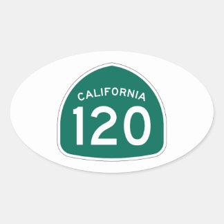 カリフォルニア州のルート120 楕円形シール