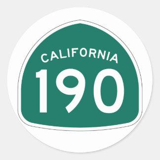 カリフォルニア州のルート190 ラウンドシール