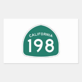 カリフォルニア州のルート198 長方形シール