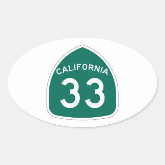 カリフォルニア州のルート33 楕円形シール