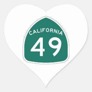 カリフォルニア州のルート49 ハートシール