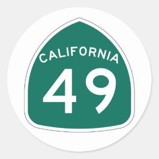 カリフォルニア州のルート49 ラウンドシール