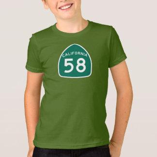 カリフォルニア州のルート58 Tシャツ