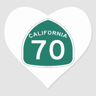 カリフォルニア州のルート70 ハートシール