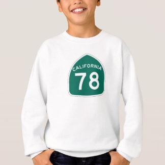 カリフォルニア州のルート78 スウェットシャツ