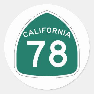 カリフォルニア州のルート78 ラウンドシール