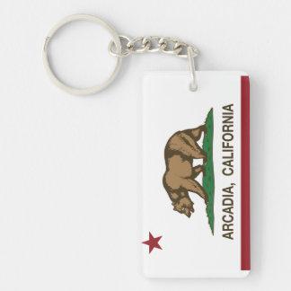 カリフォルニア州の旗のアルカディア キーホルダー