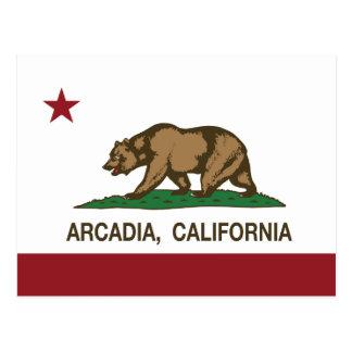 カリフォルニア州の旗のアルカディア ポストカード