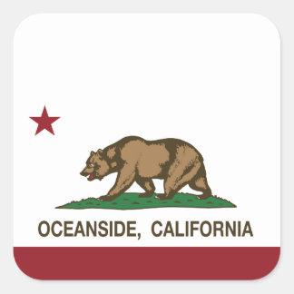 カリフォルニア州の旗のオーシャンサイド スクエアシール