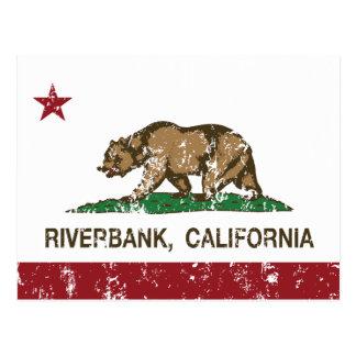 カリフォルニア州の旗の川岸 ポストカード