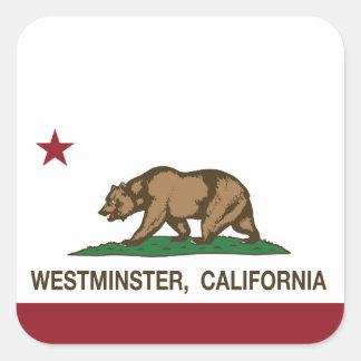 カリフォルニア州の旗ウエストミンスター スクエアシール