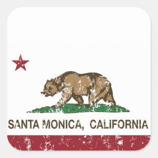 カリフォルニア州の旗サンタモニカ スクエアシール