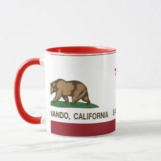 カリフォルニア州の旗サンフェルナンド マグカップ