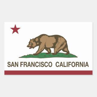 カリフォルニア州の旗サンフランシスコ 長方形シール