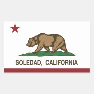 カリフォルニア州の旗ソウルダッド 長方形シール