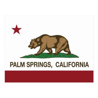 カリフォルニア州の旗パーム・スプリングス ポストカード