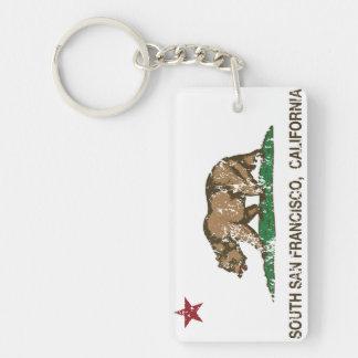 カリフォルニア州の旗南サンフランシスコ キーホルダー