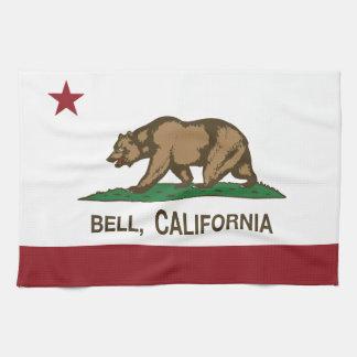 カリフォルニア州の旗鐘 キッチンタオル