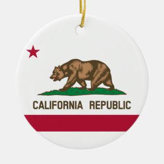 カリフォルニア州の旗 セラミックオーナメント