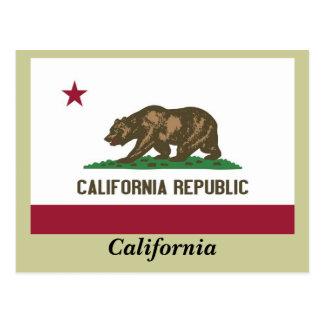 カリフォルニア州の旗 ポストカード