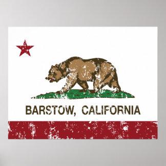 カリフォルニア州の旗Barstow ポスター
