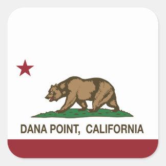 カリフォルニア州の旗Dana Point スクエアシール