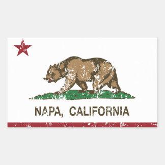 カリフォルニア州の旗Napa 長方形シール