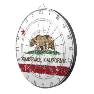カリフォルニア州の旗Orangevale ダーツボード