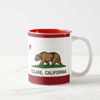 カリフォルニア州の旗Tulare ツートーンマグカップ