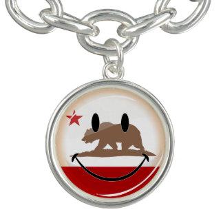 カリフォルニア微笑旗 チャームブレスレット