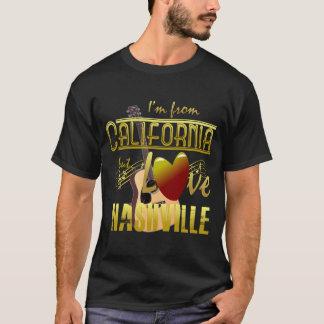 カリフォルニア愛ナッシュビルの男性Tシャツ Tシャツ