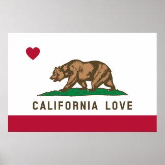 カリフォルニア愛旗ポスター ポスター