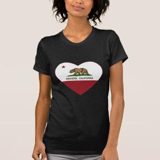 カリフォルニア旗のアナハイムのハート Tシャツ