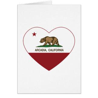 カリフォルニア旗のアルカディアのハート カード