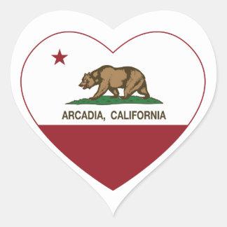 カリフォルニア旗のアルカディアのハート ハートシール