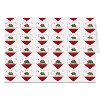 カリフォルニア旗のアルハンブラのハート カード