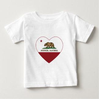 カリフォルニア旗のアンダーソンのハート ベビーTシャツ