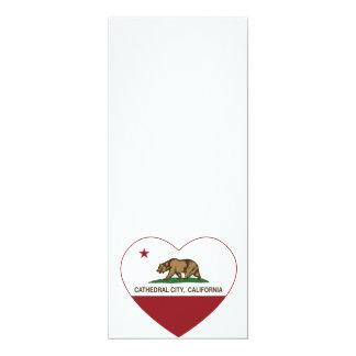 カリフォルニア旗のカテドラル都市ハート カード