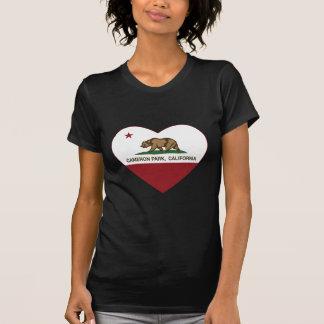 カリフォルニア旗のカメロン公園のハート Tシャツ