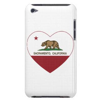 カリフォルニア旗のサクラメントのハート Case-Mate iPod TOUCH ケース