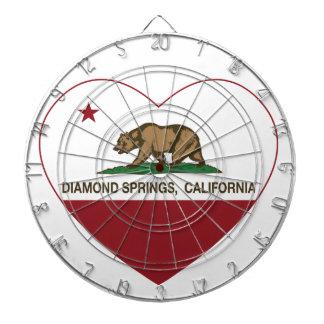 カリフォルニア旗のダイヤモンドの春のハート ダーツボード