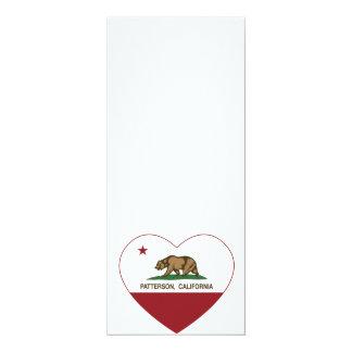 カリフォルニア旗のパターソンのハート カード