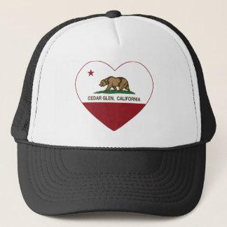 カリフォルニア旗のヒマラヤスギの谷間のハート キャップ