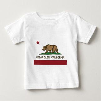 カリフォルニア旗のヒマラヤスギの谷間 ベビーTシャツ