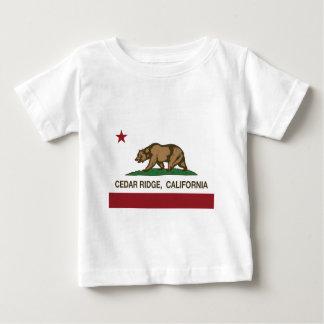 カリフォルニア旗のヒマラヤスギの隆起部分 ベビーTシャツ