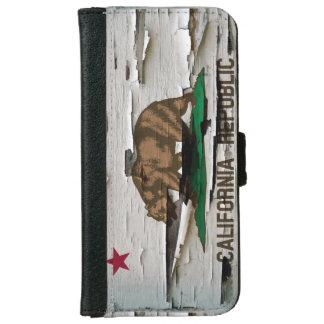 カリフォルニア旗のペンキの皮 iPhone 6/6S ウォレットケース