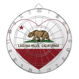 カリフォルニア旗のラグナの丘のハート ダーツボード